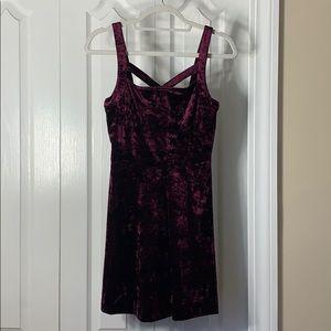 Forever 21 Velvet Dress in Burgundy